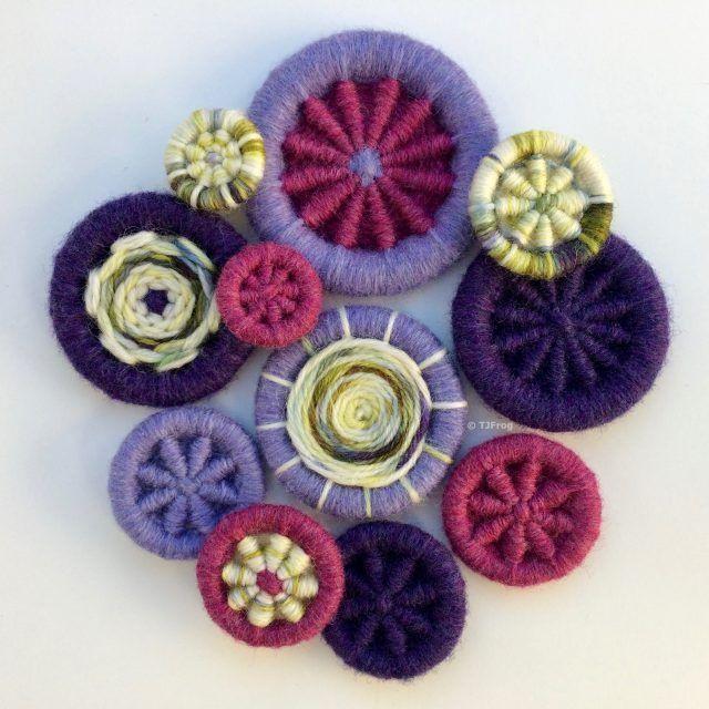 Out Amp About Dorset Buttons Handmade Crochet Earrings