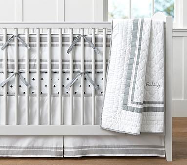 Organic Harper Per Set Gray With Peyton Crib Fit