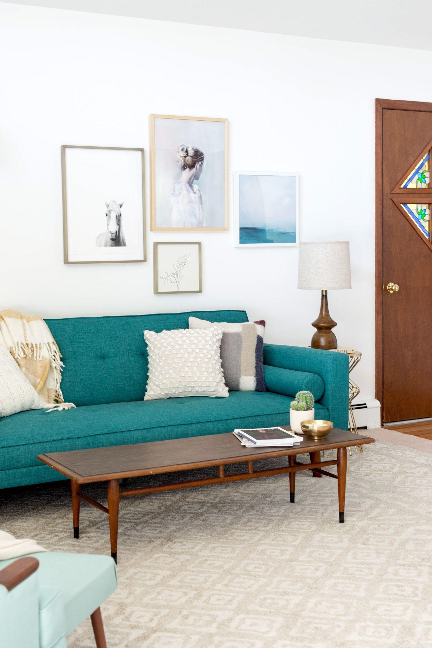 west elm - A Colorful Retro 1960s A-Frame Interior | House | Living ...