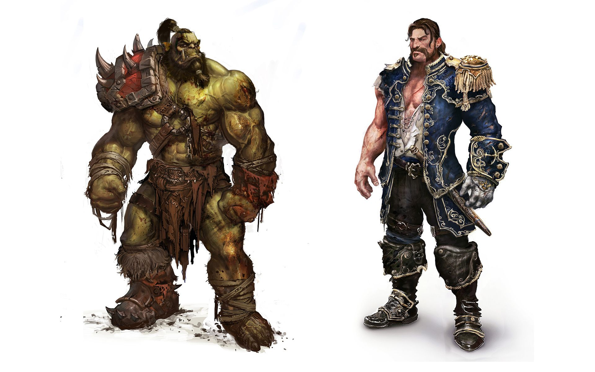 Orc Warrior Human Admiral Jpg 1920 1200 World Of Warcraft