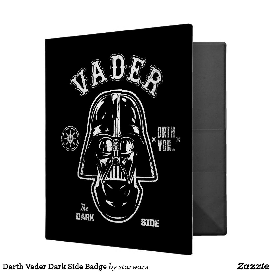 Darth Vader Dark Side Badge 3 Ring Binder