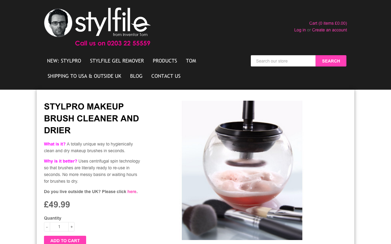 Stylepro makeup brush cleaner and drier Makeup brushes