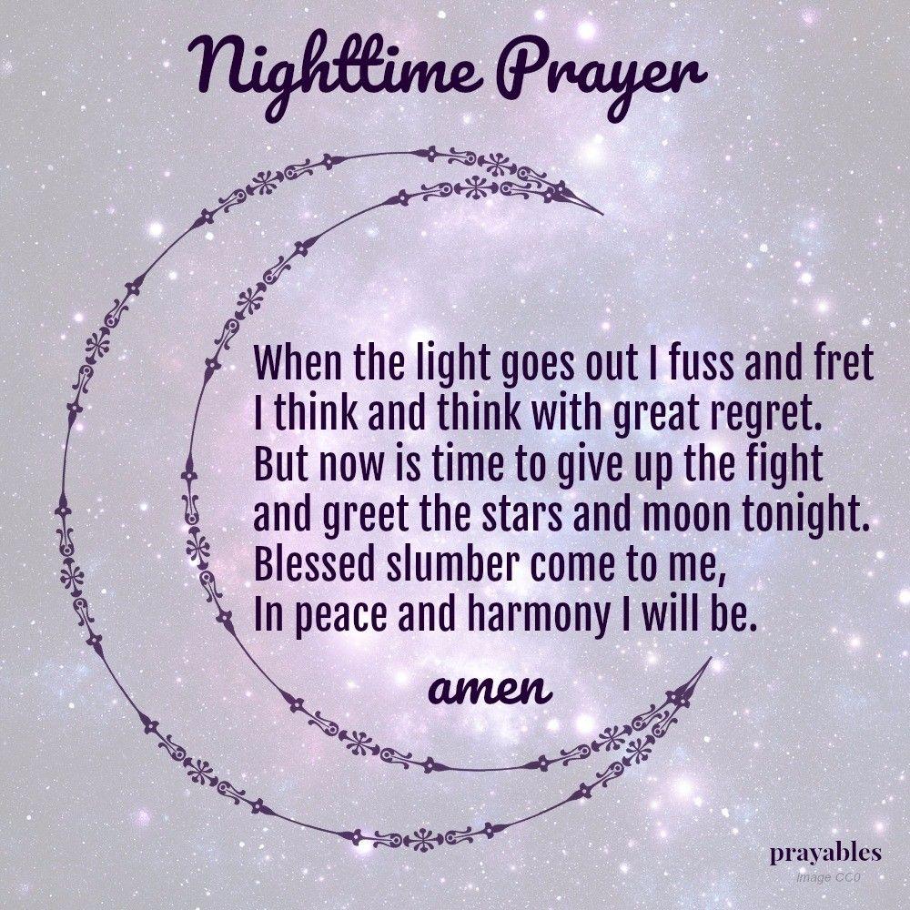 Night Time Prayer Quotes: Prayer: Nighttime Prayer – Prayables