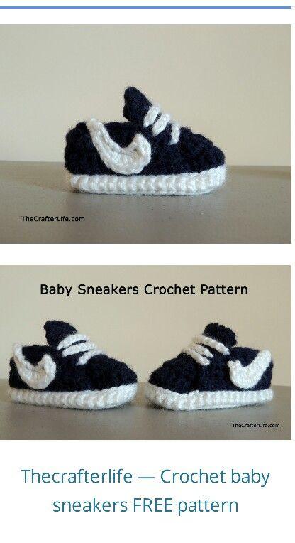 Baby crochet sneakers   Crochet   Pinterest