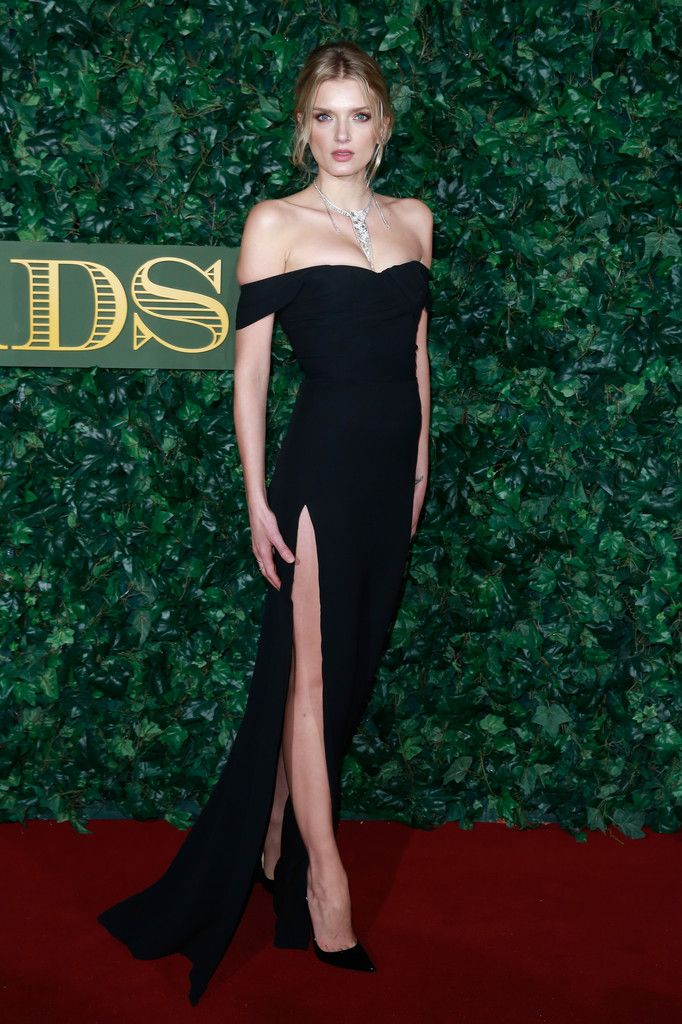 f6d9cfa2d8d Lily Donaldson Off-the-Shoulder Dress - Lily Donaldson Looks - StyleBistro