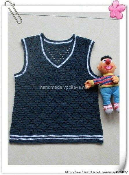 Mis Pasatiempos Amo el Crochet: Chaleco de niño | Batman | Pinterest ...