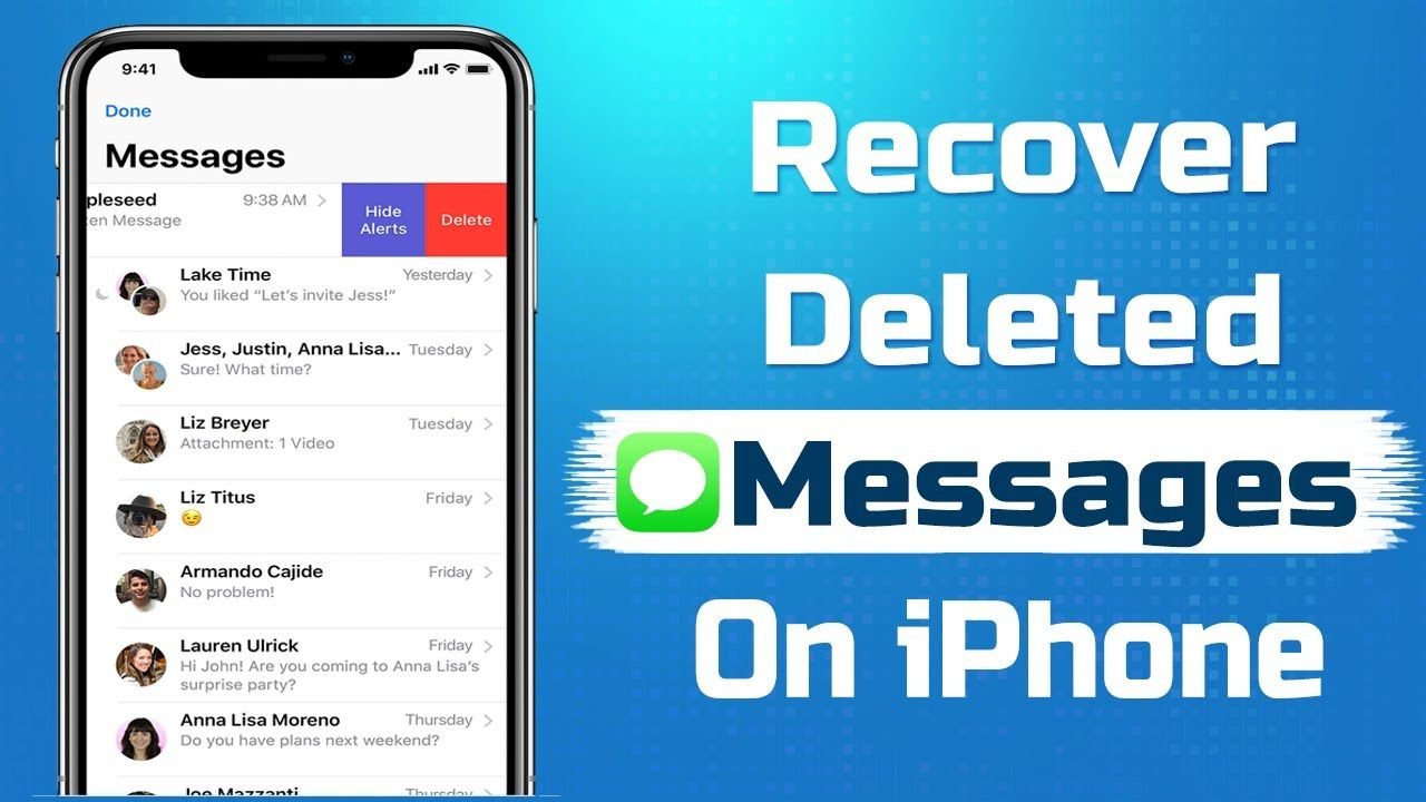 Can You Get Back Deleted Texts Iphone How To Recover Deleted Messages On Iphone Without Backup Recover Del Friday Messages Messages Text Messages