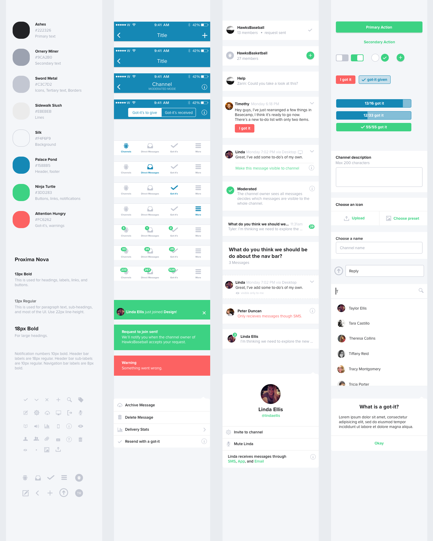 virb templates - mobile style guide guidelines pinterest ui ux app