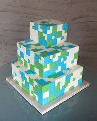 Pixel Cake Teen Boy Birthday cake idea Tanner 13 BDay