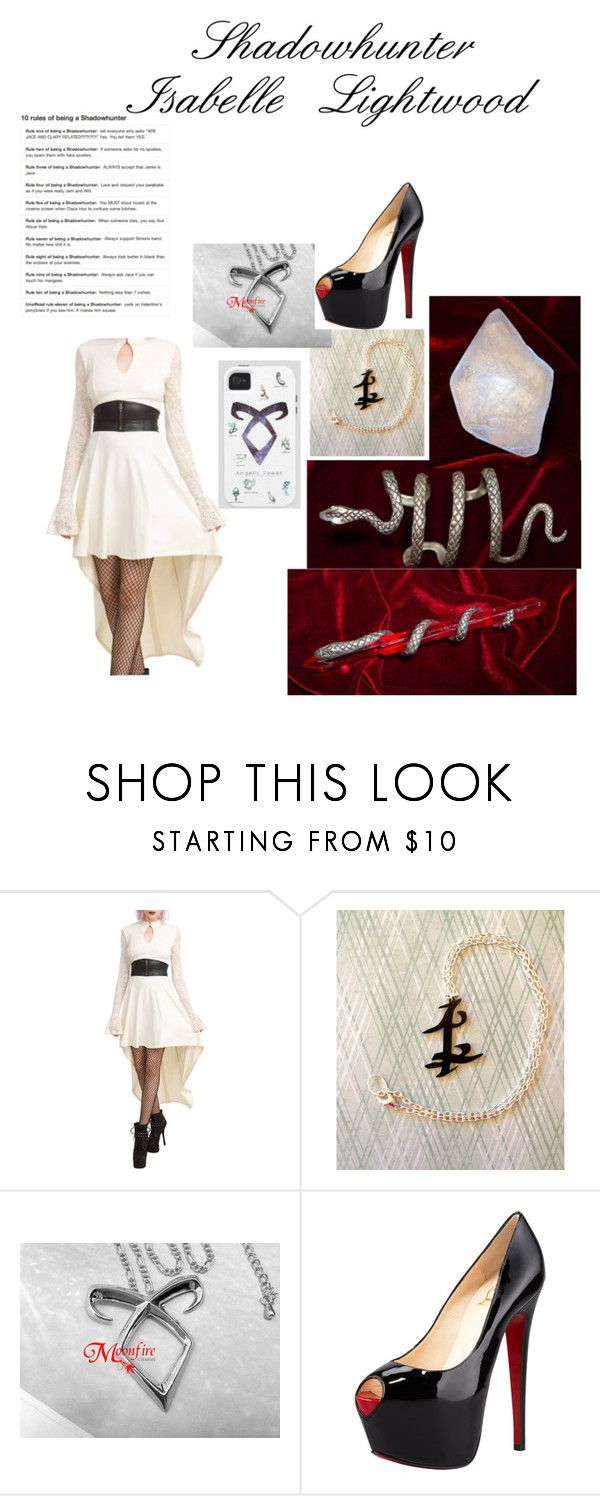 """""""Shadowhunter Isabelle Lightwood"""" by fly-with-angles ❤ liked on Polyvore featuring Tripp and Christian Louboutin"""