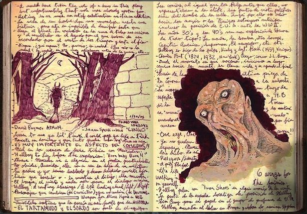 At the Mountains of Madness from Guillermo del Toro's sketchbook