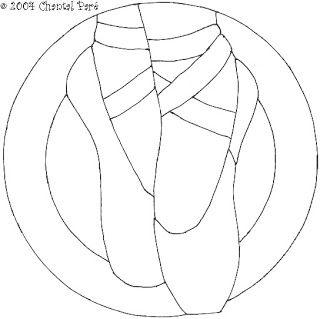 Zapatillas De Ballet Figuras Para Colorear Zapatillas De