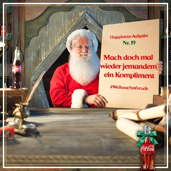 Wem hast Du heute schon mit einem Kompliment #Weihnachtsfreude bereitet? Und wie? Erzähl es uns in den Kommentaren und lass dich auf cokeurl.com/vine inspirieren