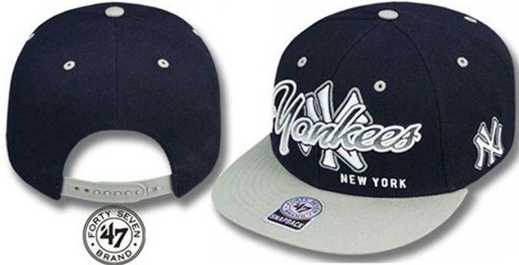 wholesale snapbacks hats Forty Seven 47 Brand New York Yankees MLB  Snapbacks Hats Black Grey ID 0664 1e1afadd3319