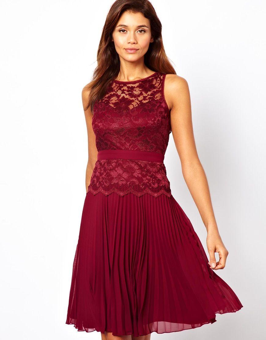 Womens Chiffon Lace Skater Dress Elise Ryan Cheap Price Fake 53ECSNpy