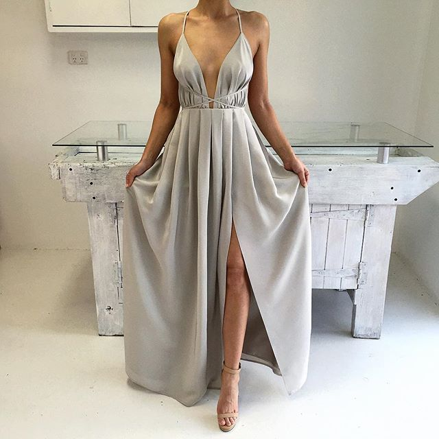 Debs Silver Long Dresses