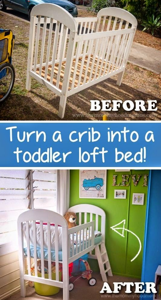 20 Creative Furniture Hacks Repurpose That Old Crib And Easily Turn It Into A Toddler Loft Bed