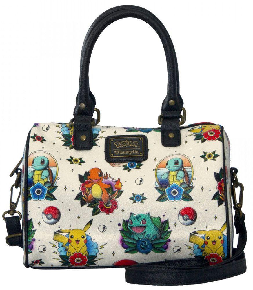 e0cde0ba2a0 Loungefly Pokemon Go Pikachu Squirtle Bulbasaur Pokeball Bag Purse ...