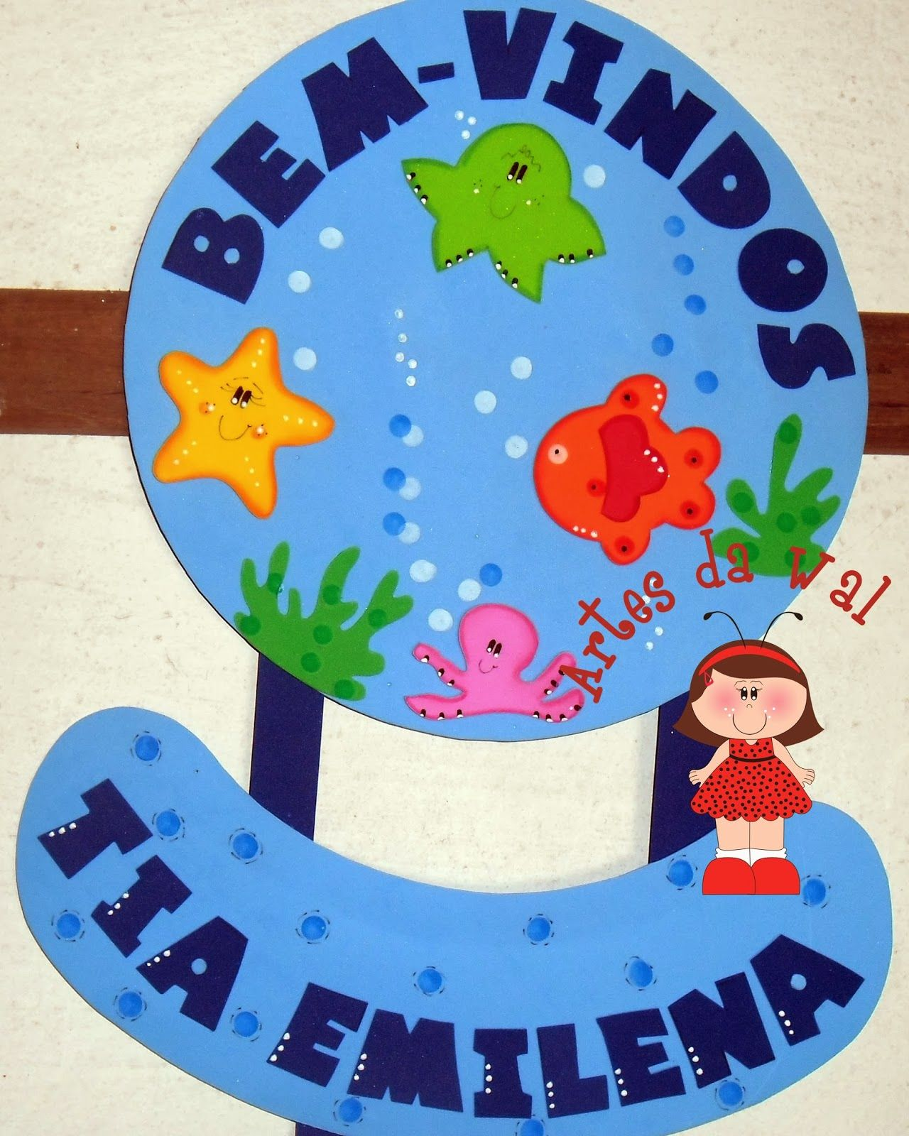 Decora O Sala De Aula Tema Fundo Do Mar Janelinha Do Tempo  -> Decoracao Sala De Aula Ensino Fundamental