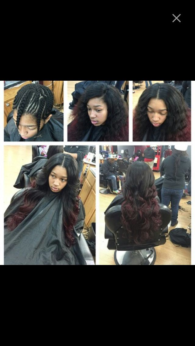 Middle/side part sew in . Like this pin? For more follow me on ...