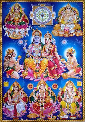 Lord Vishnu Devi Lakshmi Brass Statue 710 Gram 4x3 Inch