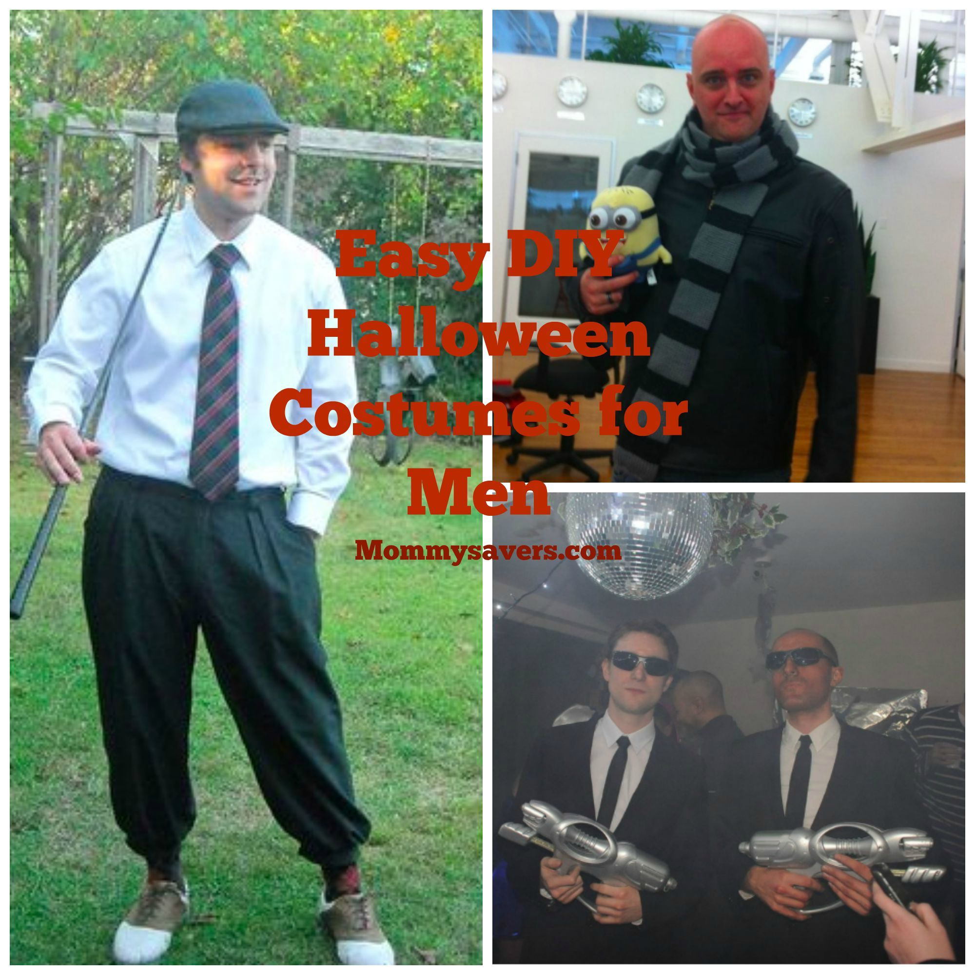 Diy easy halloween costume ideas for men fall favorites i have found that sometimes its hard to get men dressed up for halloween the costume better be clever cool and easy to create solutioingenieria Images
