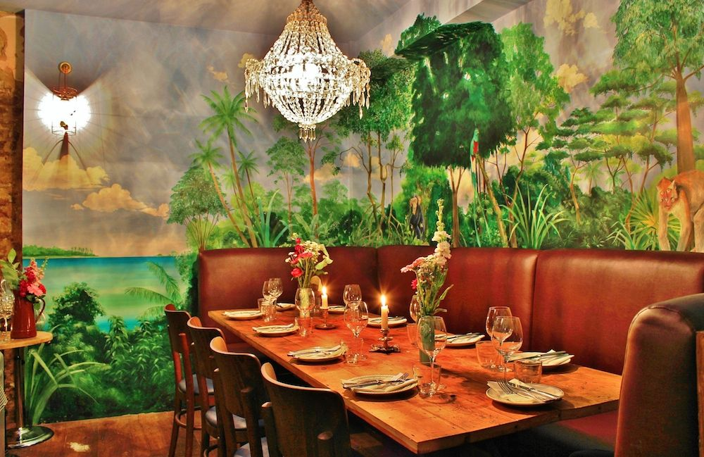 Best Private Dining London. The Jungle Room At Blanchette, Soho