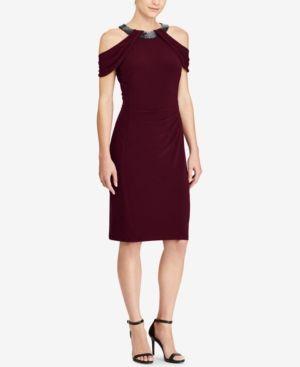 ef6e8f739d5 Lauren Ralph Lauren Jersey Cold-Shoulder Dress - Dresses - Women - Macy s