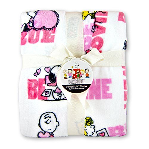Peanuts Gang Valentine Velvetsoft Throw Blanket Berkshire Blanket. This is the Valentine's Day gift that will be useful through the whole year!