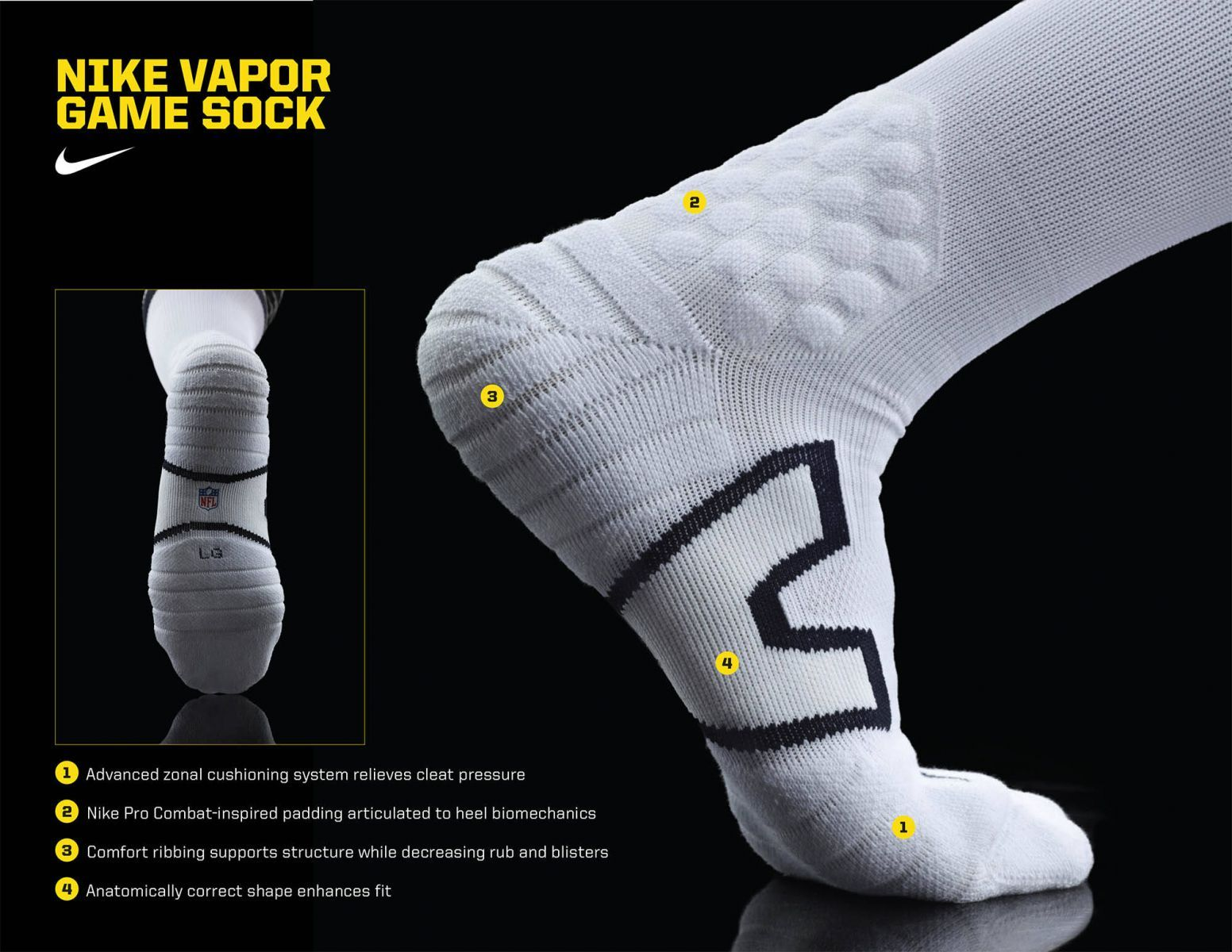 dd4e1d5a Nike NFL 2012 Vapor Game Sock Tech | Stuff 4 kid football players ...