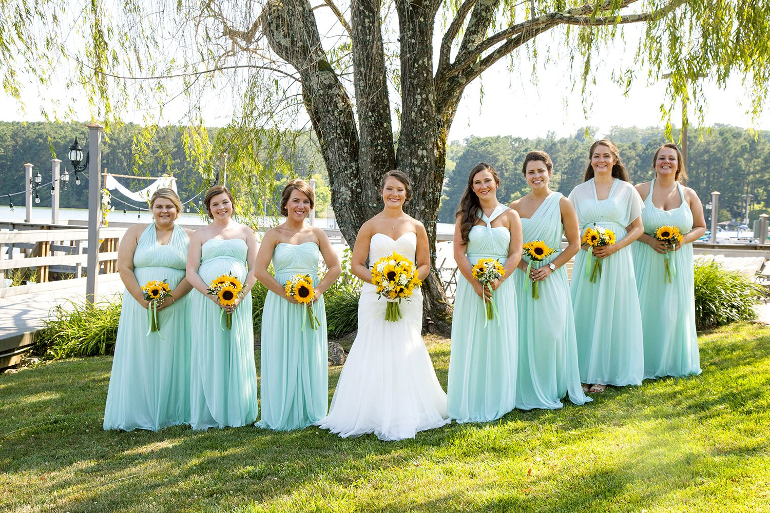 I Ve Loved You From The Start Megan And Andrew Say I Do The Pink Bride Blue Sunflower Wedding Sunflower Themed Wedding Turquoise Wedding [ 1000 x 1500 Pixel ]