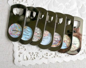 100 Bottle Openers Wedding Favors Map Worldwide Destinations Travel Theme Party World Welcome Gift Bag
