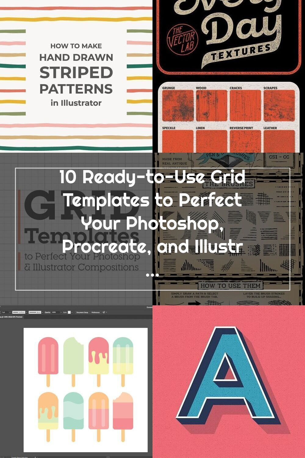 10 Ready To Use Grid Templates To Perfect Your Photoshop Procreate And Il En 2020