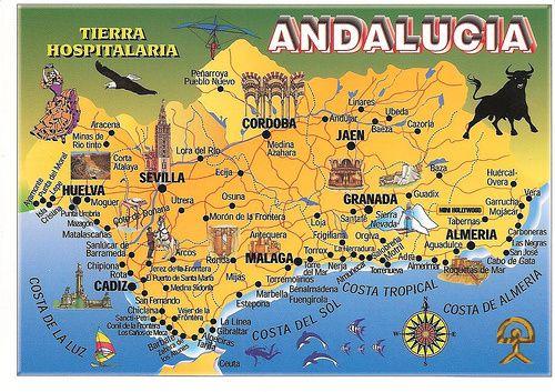 Mapa Costa De Granada.Mapa De Andalucia Espanol 5 6 Andalucia Spain Cordoba
