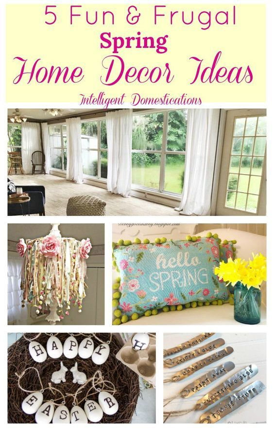 Fun U0026 Frugal Spring Home Decor Ideas (Merry Monday 194)   Intelligent  Domestications