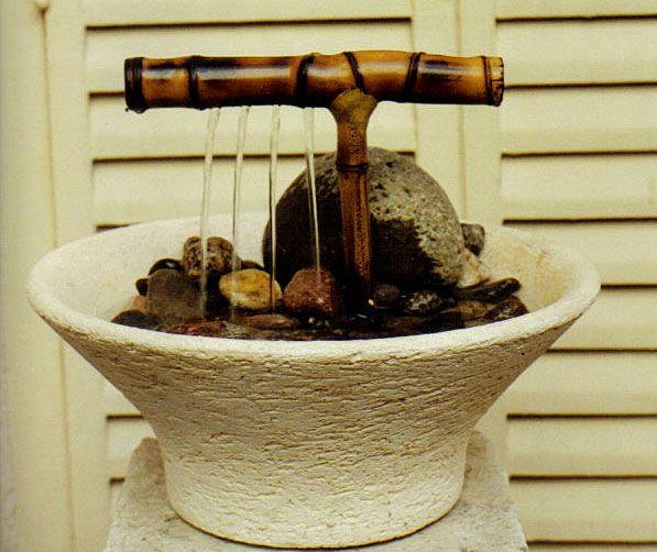 Fuentes de agua caseras para interiores buscar con for Antorchas para jardin caseras