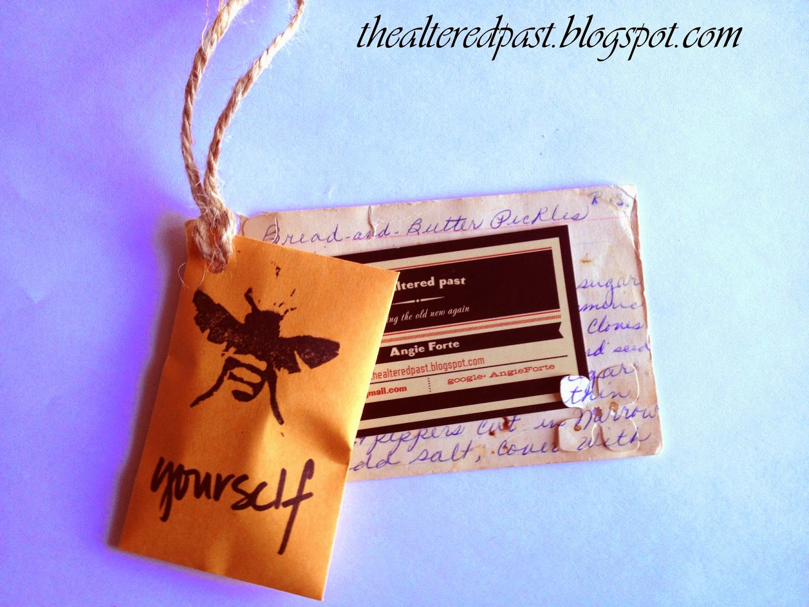 thealteredpast diy business cards and swag hand