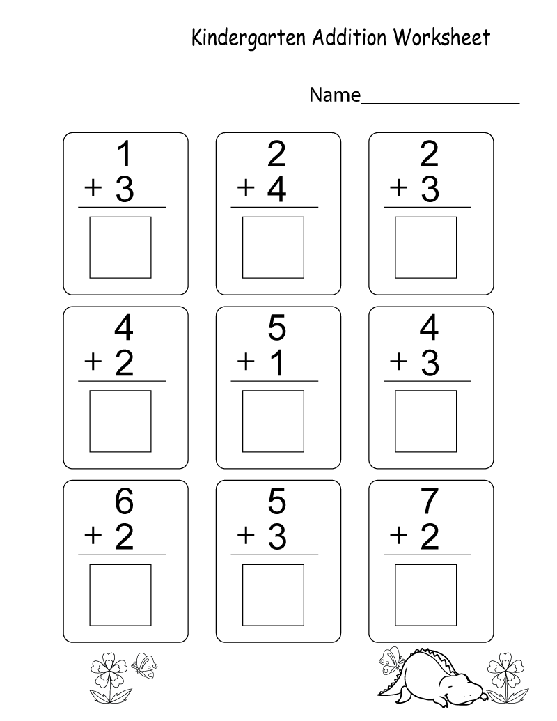 New Printable Kindergarten Learning Worksheets Kindergarten Addition Worksheets Kindergarten Math Worksheets Addition Addition Kindergarten