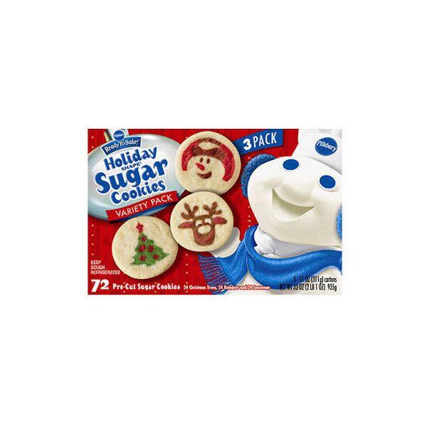 Pillsbury Holiday Shape Sugar Cookies 72 Ct Liked On Polyvore