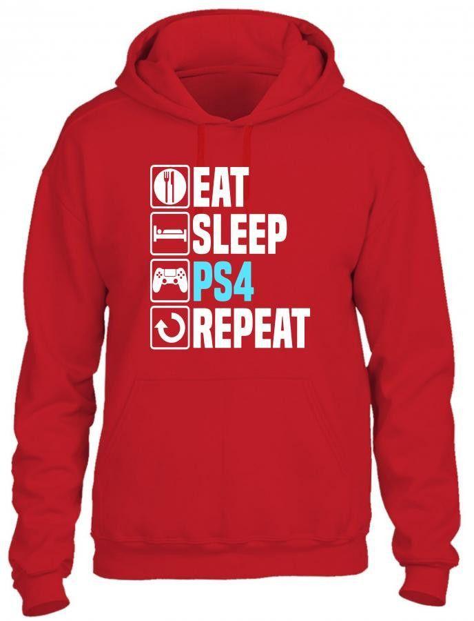 eat sleep play Hoodie