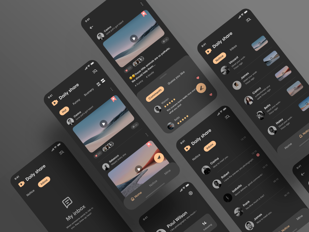 Short video app in 2020 App design inspiration