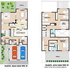 planos de casas 6×15