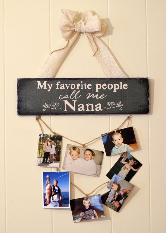 My favorite People Call me Nana pallet sign with photo ...