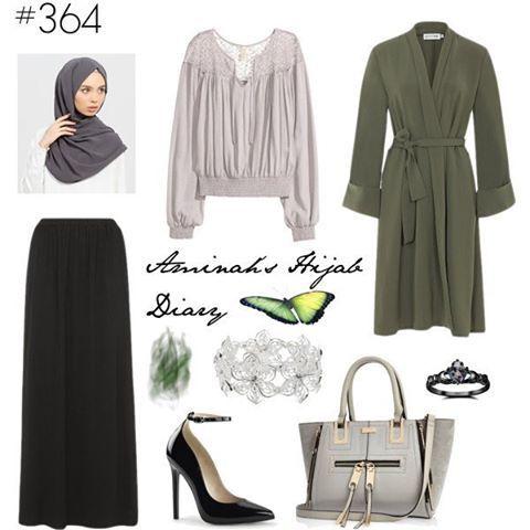 Luv the combination of olive green and grey Details on aminahshijabdiary.wordpress.com #modestfashion #modestwear #modestclothing #modesty #modest #fashion #fashionblogger #fashionista #fashionaddict #love #look #lookbook #style #mystyle #outfit #outfitoftheday #ootd #aminahshijabdiary #inspiration