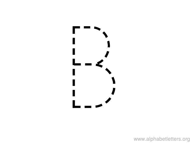 Alphabet Letter Tracing B  Teaching God    Letter