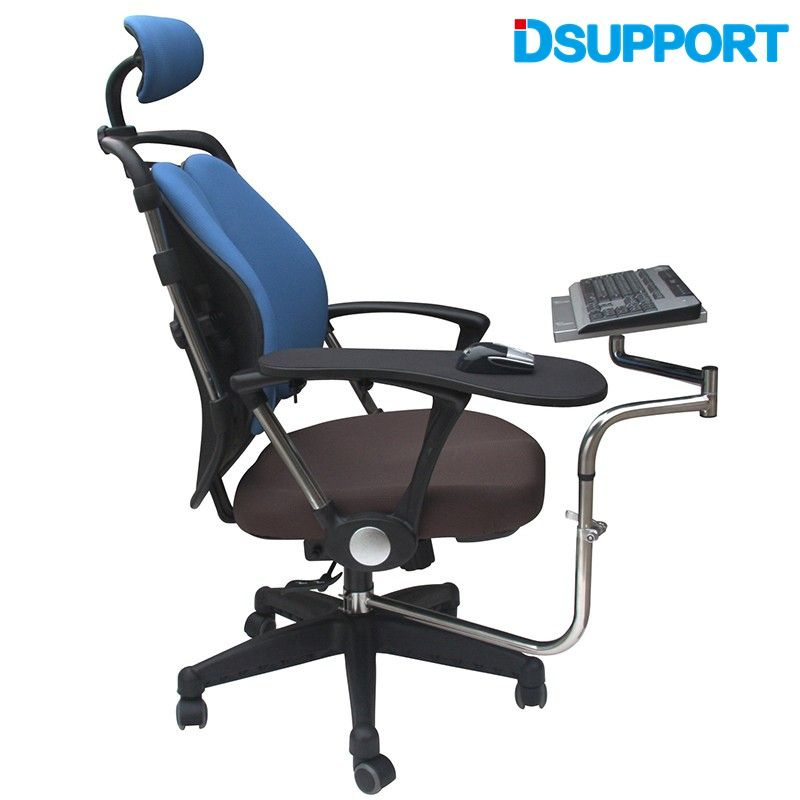 Ok 010 Multifunctoinal Full Motion Chair Clamping Keyboard Support Laptop Holder Mouse Pad For Compfortable Office And Game Office Games Chair Pads Lap Desk
