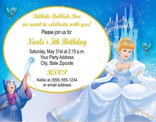 Cinderella birthday party invitations personalized custom birthday cinderella birthday party invitations personalized custom filmwisefo