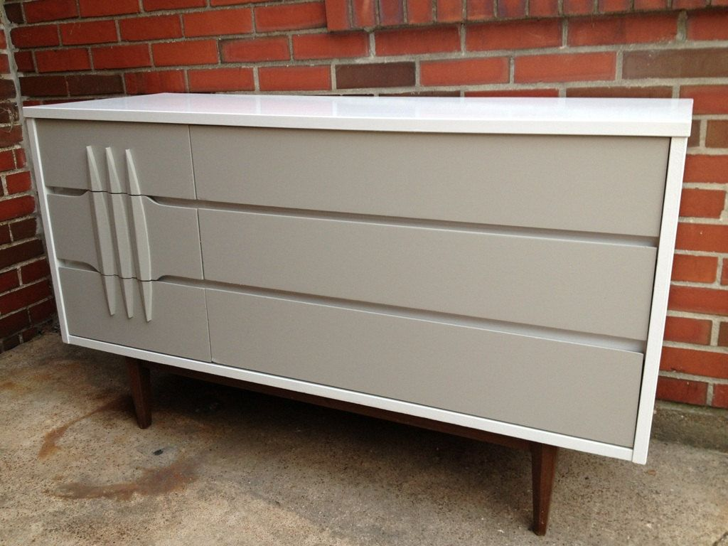 Best Stunning Midcentury Modern Solid Wood 6 Drawer Kroehler 400 x 300