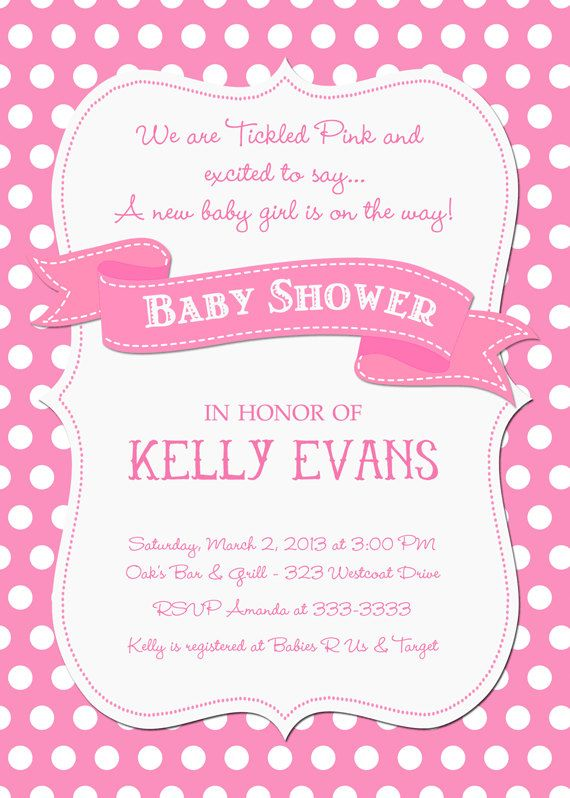 Tickled Pink Polka Dot Baby Shower Invitation  by PartyPopInvites, $17.00