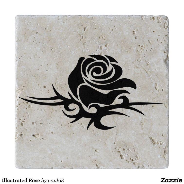 Illustrated Rose Trivet